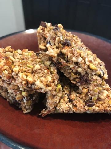 honey nut bars finished